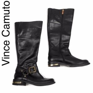 Vince Camuto Kallie riding boots in black